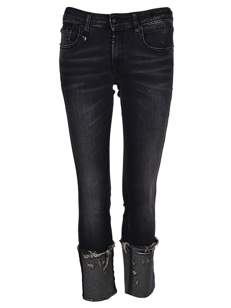 Kate Cuffed Skinny Jeans in Orion Black