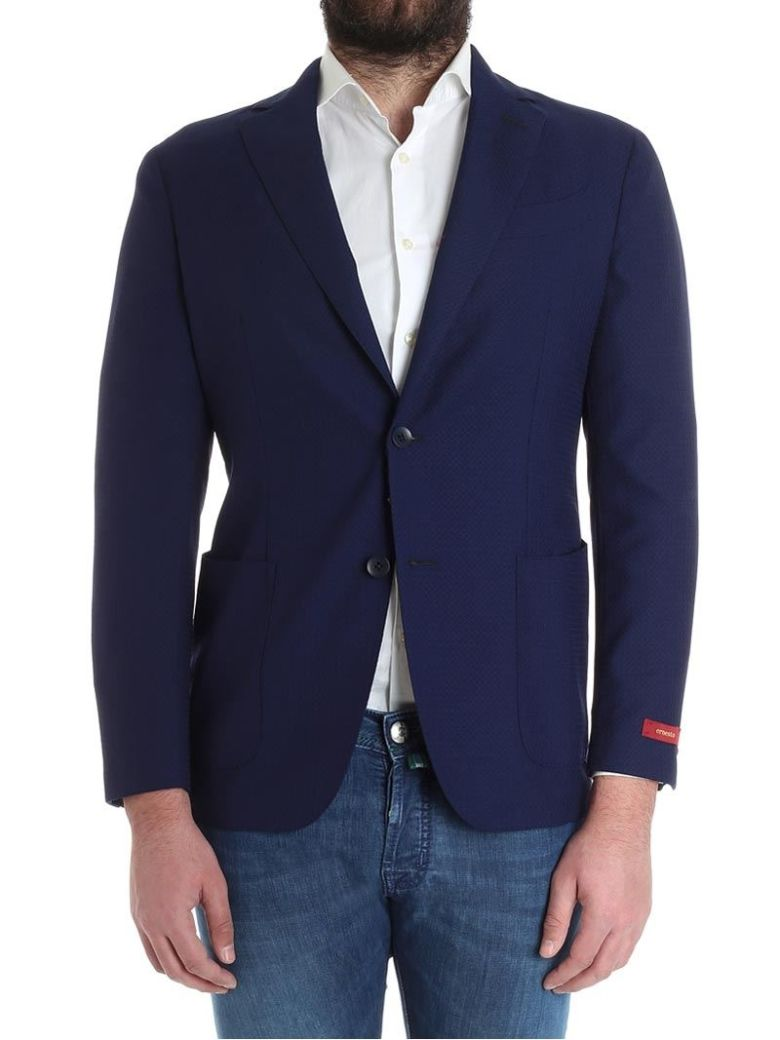ERNESTO ESPOSITO Cool Wool Jacket in Blue