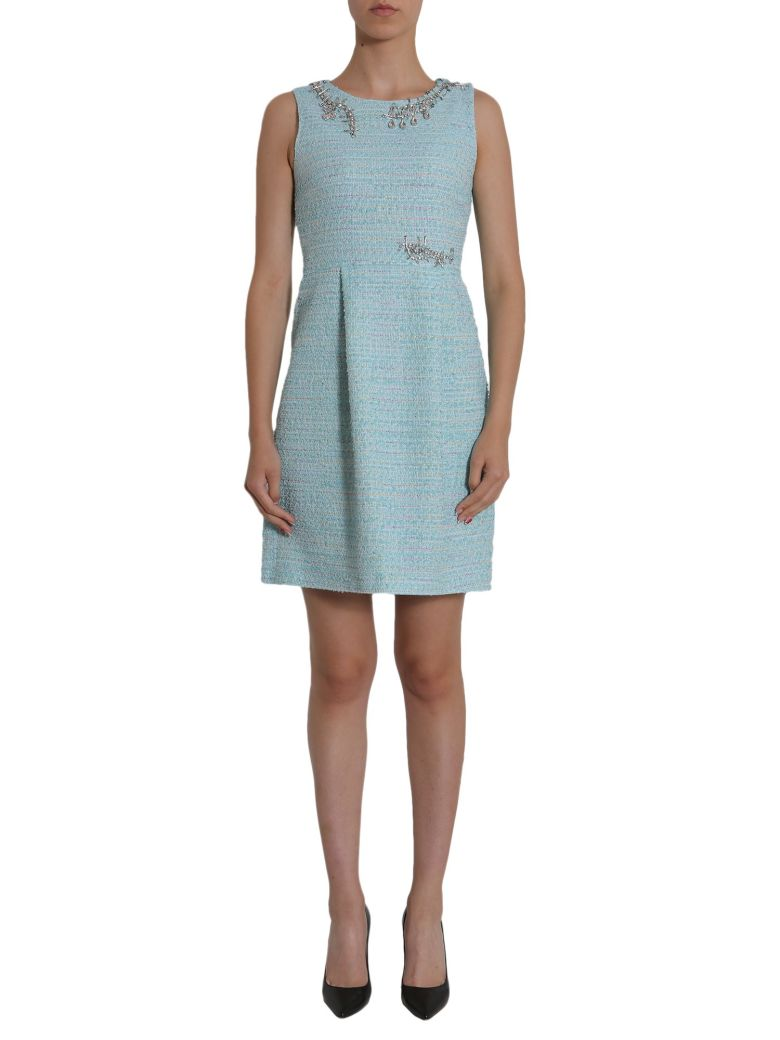 Tweed Dress, Azzurro