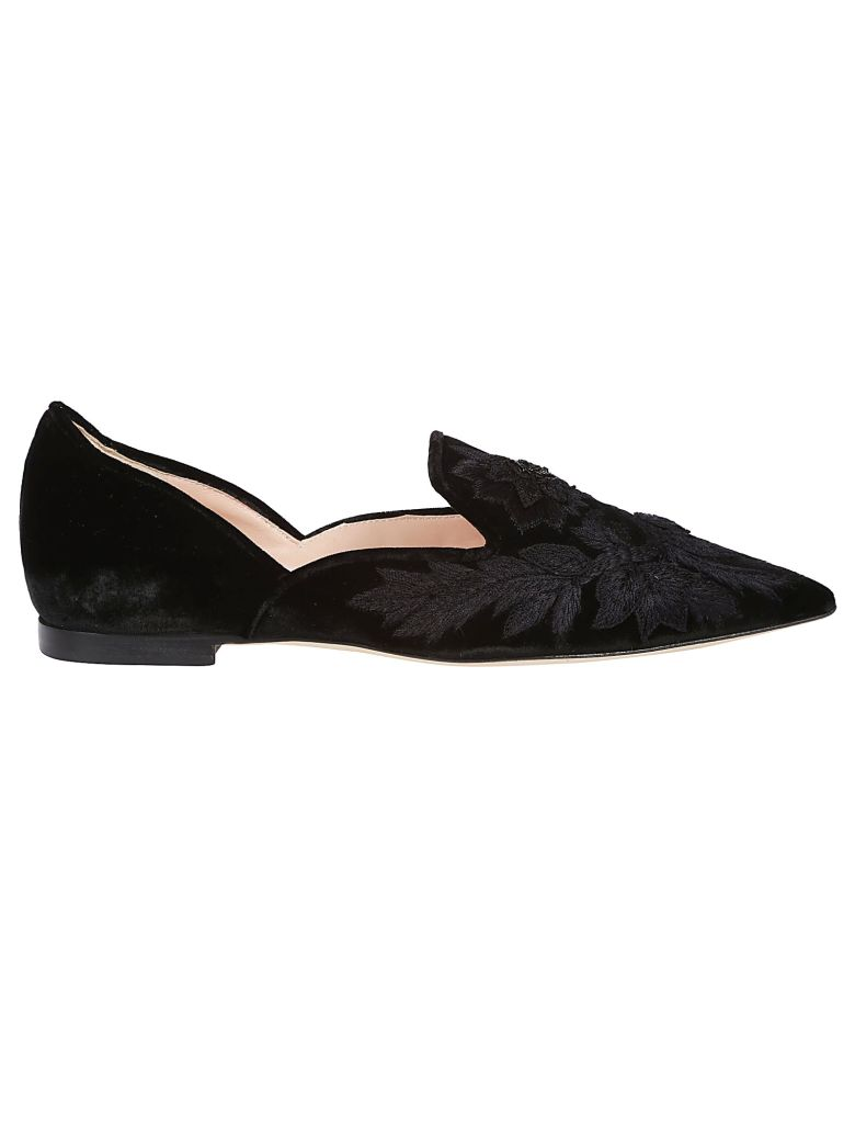 ALBERTA FERRETTI Embellished Bow Pumps in Black