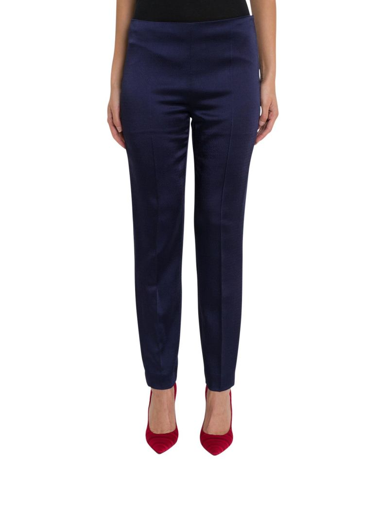 Straight-Cut Trousers, Blu
