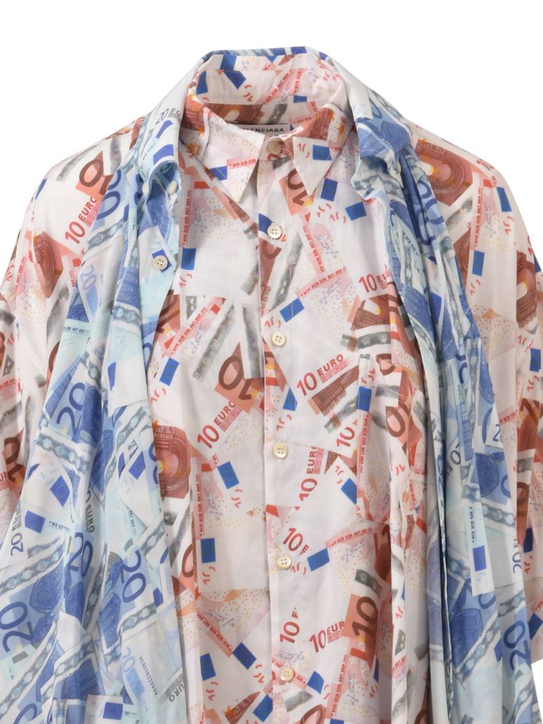 8202c183 Fashion enthusiasts slam the new Balenciaga double T-shirt Shirt worth  £1,000 - FiloPost. Balenciaga Double Euro Shirt - ROSA/CELESTE - 10600586 |  italist