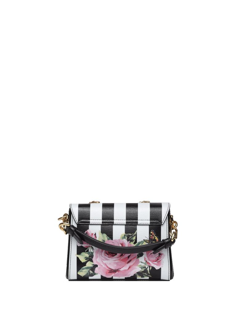 DOLCE & GABBANA DG MILLENNIALS ROSE PRINT LEATHER BAG