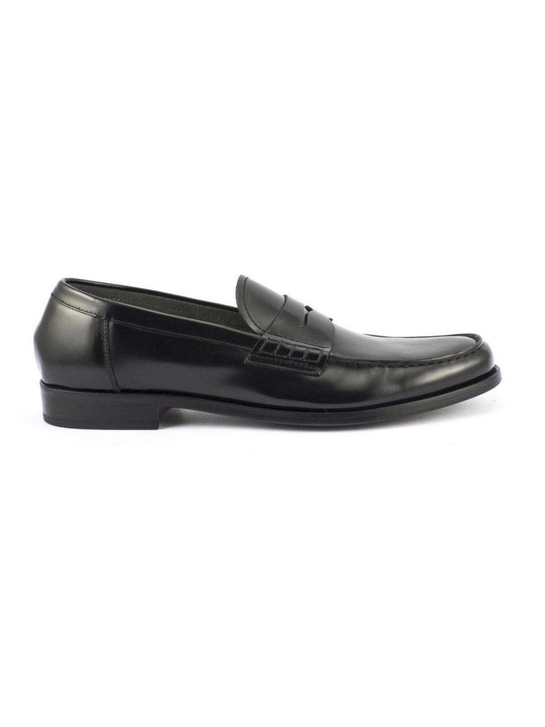 Men's Black Horse Leather Loafer