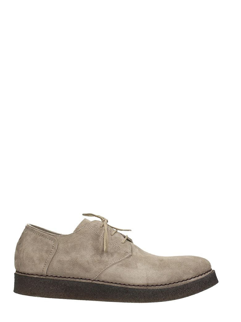 ROBERTO DEL CARLO GREY SUEDE LACE UP