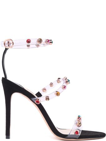 Sophia Webster Rosalind Crystal-embellished Plexi Sandals