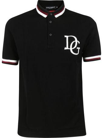 Dolce & Gabbana Logo Print Polo Shirt
