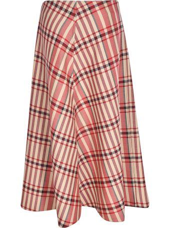 Tela 9 Checked Asymmetric Skirt