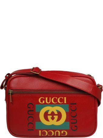 Gucci Logo Print Messenger Shoulder Bag