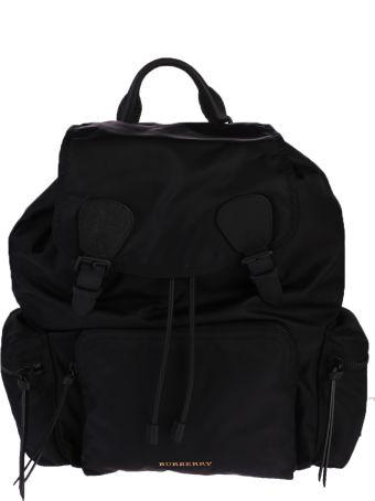 Burberry Black Buckled Backpack