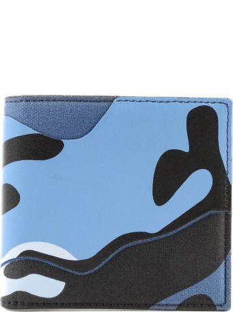 Valentino Garavani Camo Print Billfold Wallet