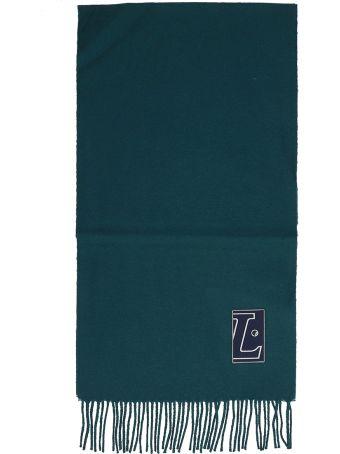 Lanvin Green Wool Scarf