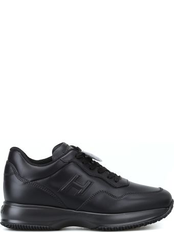 Hogan Interactive Black Leather H 3d Sneakers