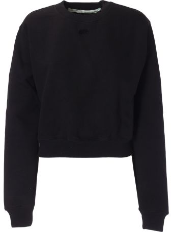 Off-White Arrow Applique Cropped Sweatshirt