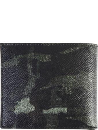 Dolce & Gabbana Green Camouflage Motif Wallet