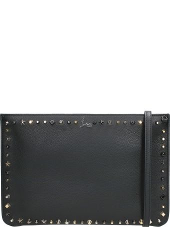 Christian Louboutin Loubiclutch Black Calf Clutch