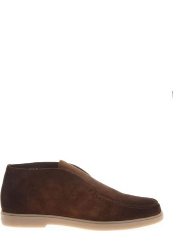 Santoni Dark Brown Suede Desert Boots