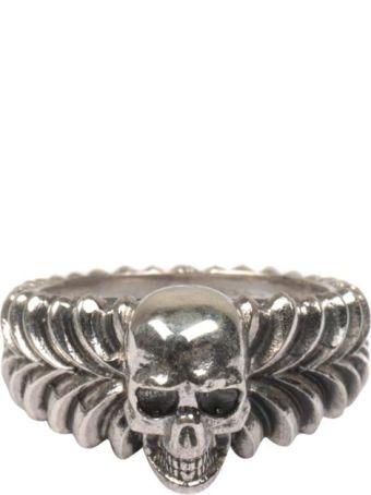 Emanuele Bicocchi Skull Silver Ring