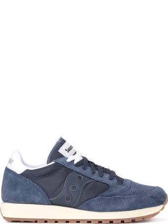 Saucony Jazz Vintage Fabric Suede Tessuto And Blue Leather Sneaker