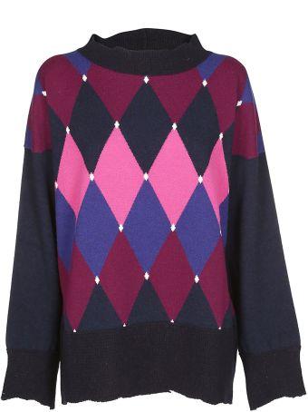 Ballantyne Argyle Print Sweater