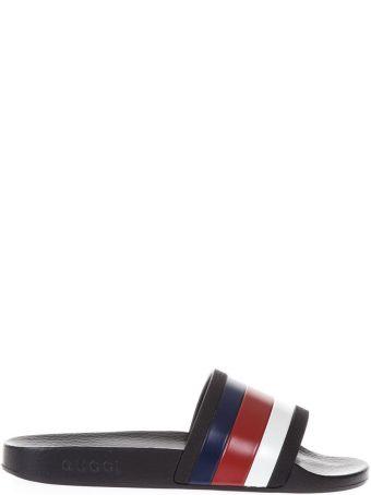 Gucci Web Detail Rubber Sandals