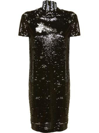 Versus Versace Logo Sequin Dress
