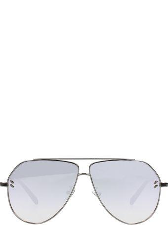Stella McCartney Aviator Sunglasses Silver Steel