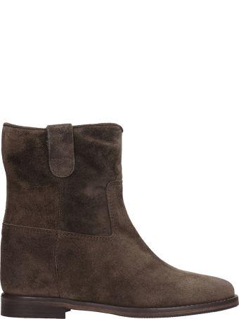 Julie Dee Brown Suede Boots