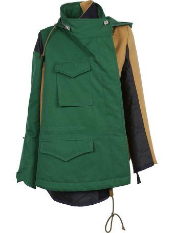 Sacai Melton Hoodie Coat
