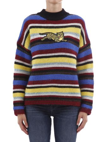 "Kenzo Striped Sweater ""jumping Tiger"""