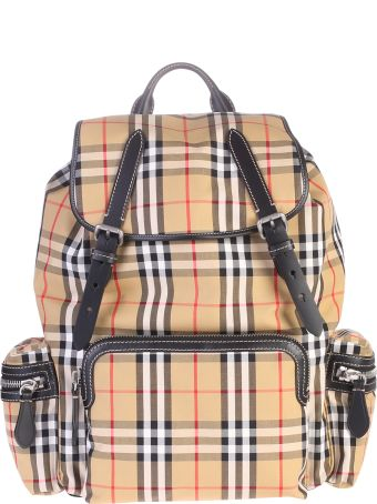 Burberry Multicolored Checked Backpack