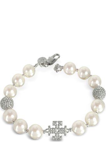 Tory Burch Glass Pearl Crystal Bracelets