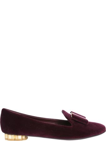 Salvatore Ferragamo Flower Heel Slippers