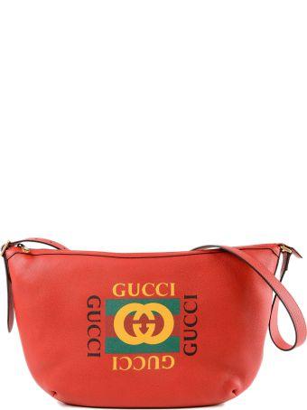 Gucci Printed Half-moon Hobo Bag