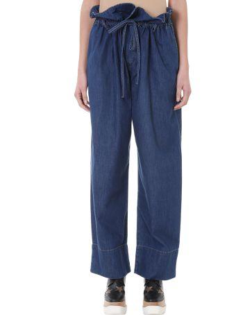 Stella McCartney Drawstring Blue Denim Jeans