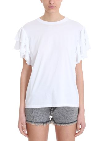 Stella McCartney Ruched White T-shirt