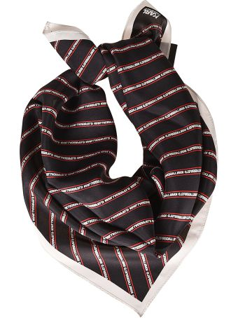 Karl Lagerfeld Logo Striped Scarf