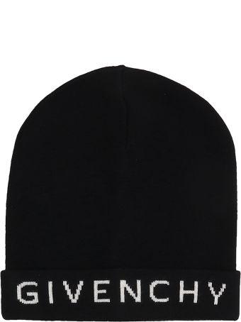 Givenchy Black Wool Beanie Cap