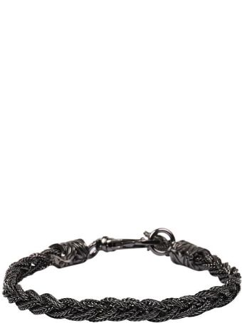 Emanuele Bicocchi Silver Twisted Slim Bracelet