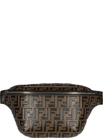 Fendi Embossed Shoulder Bag