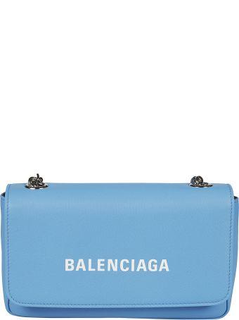 Balenciaga Logo Chain Shoulder Bag