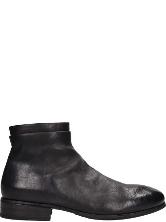 Marsell Cetrolione Black Leather Boots