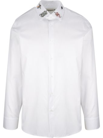 Gucci Embroidered Collar Shirt