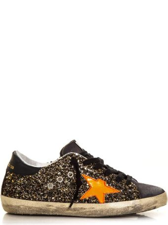 Golden Goose Black Glittery Superstar Sneaker