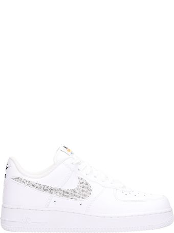 Nike Air Force 1 07 White Leather Sneakers