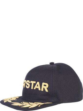 Dsquared2 Black 24-7 Star Embroidered Baseball Hat