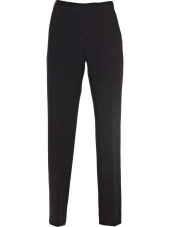 Elasticated-wais crepe trousers Alberto Biani