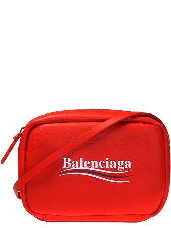 Balenciaga Everyday Branded Red Shoulder Bag