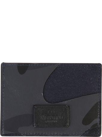 Valentino Garavani Blue Branded Card Holder