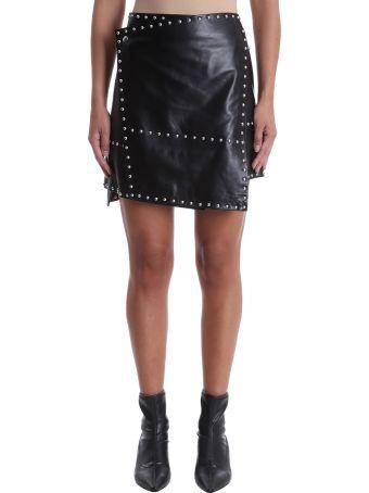 Helmut Lang Studded Leather Mini Skirt